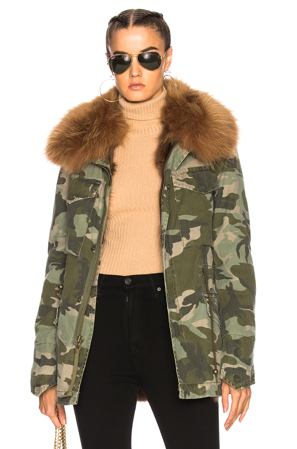 Mr & Mrs Italy Canvas Field Jacket in Abstract,Green