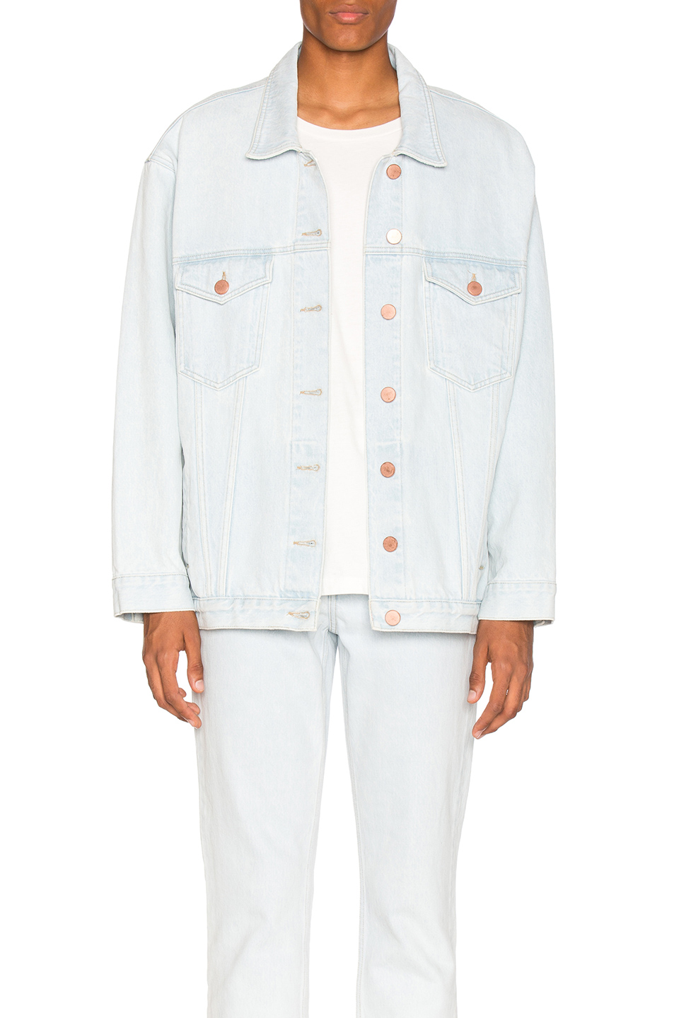 Martine Rose Oversized Denim Jacket in Blue