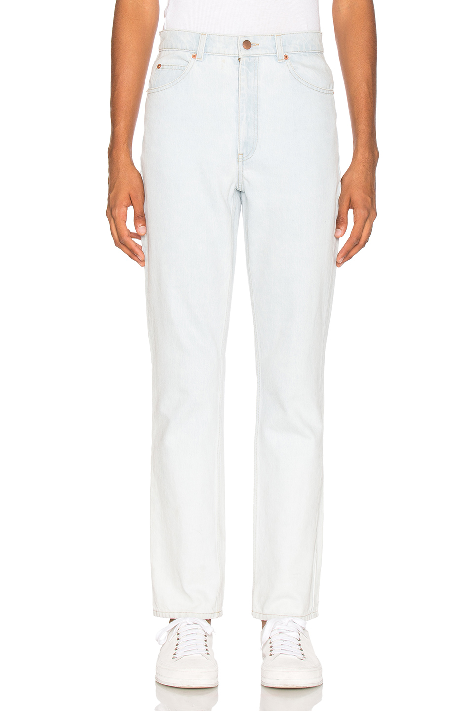 Martine Rose Slim High Waist Jean in Blue
