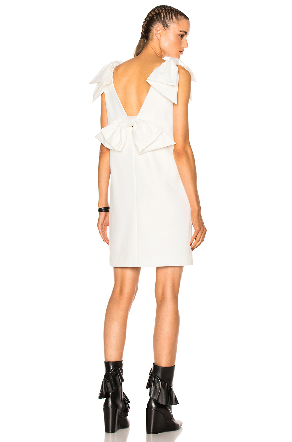 MSGM Sleeveless Tie Dress in White