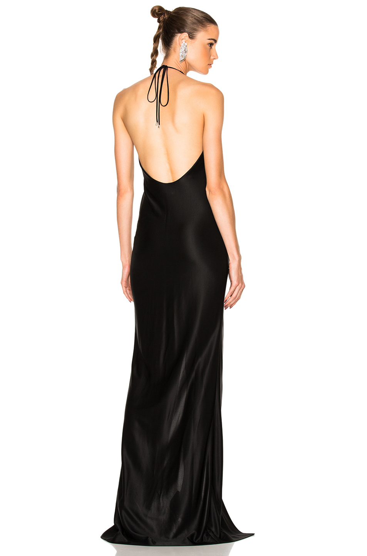 Mugler Luxury Jersey Gown in Black