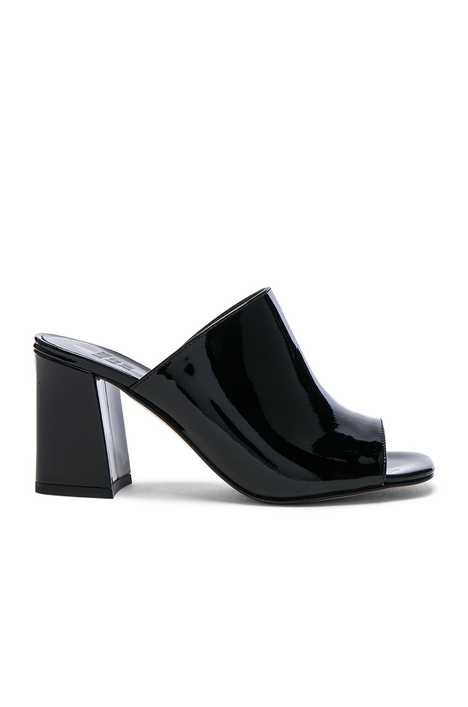 Maryam Nassir Zadeh Patent Leather Penelope Mules in Black
