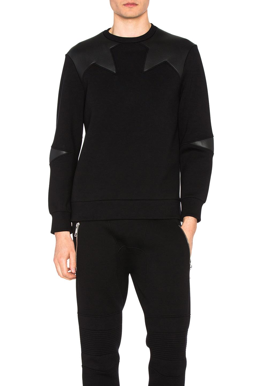 Neil Barrett Irregular Star Sweatshirt in Black