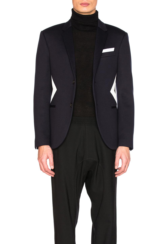 Neil Barrett Fine Double Bonded Sweatshirt Jacket in Blue