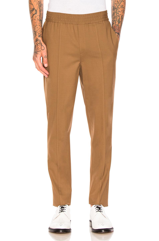 Neil Barrett Fine Bistretch Gabardine Trousers in Brown