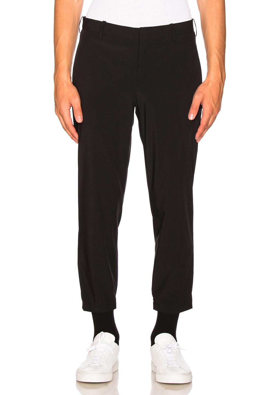 Neil Barrett Nylon Hem Detail Trousers in Black