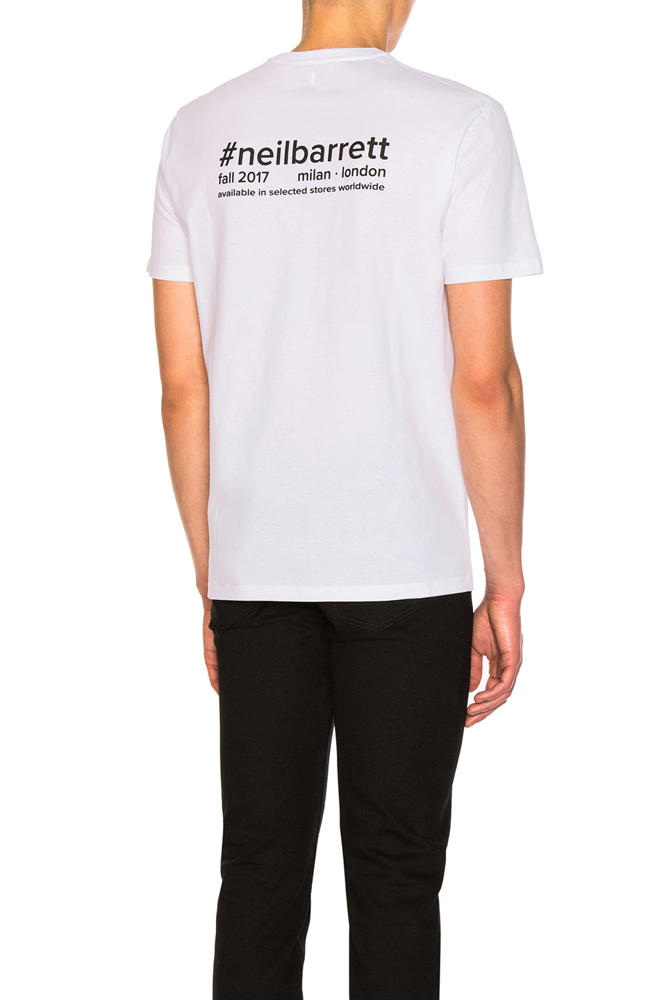 Neil Barrett Hashtag Tee in White