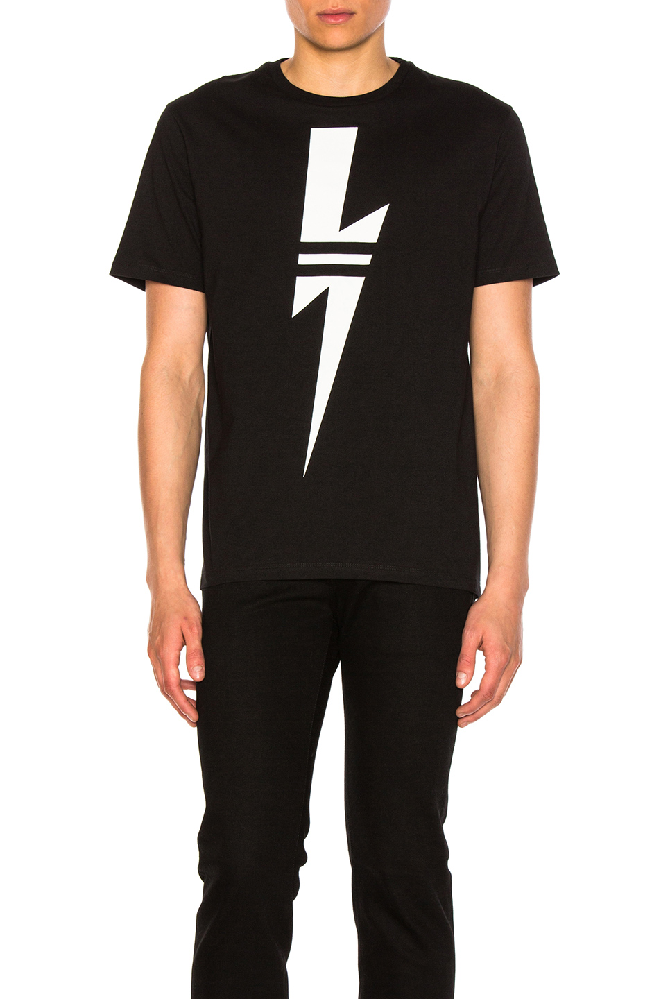 Neil Barrett Sport Bolt Tee in Black