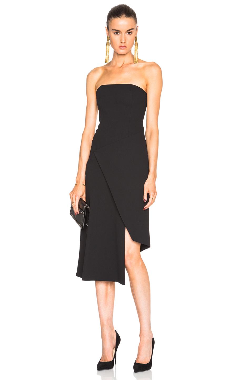 NICHOLAS Front Wrap Dress in Black
