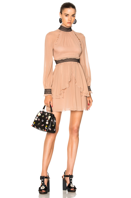 NICHOLAS High Neck Mini Dress in Pink