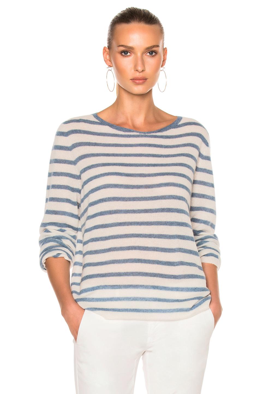 Nili Lotan Julia Sweater in Blue,Stripes,White
