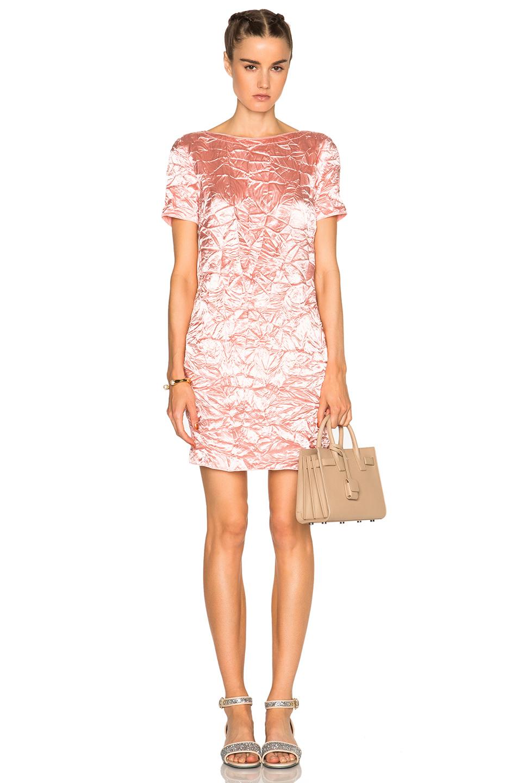 Nina Ricci Short Sleeve Mini Dress in Pink