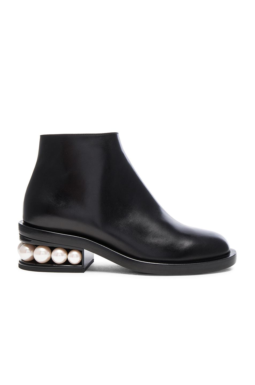 Nicholas Kirkwood Leather Casati Pearl Boots in Black