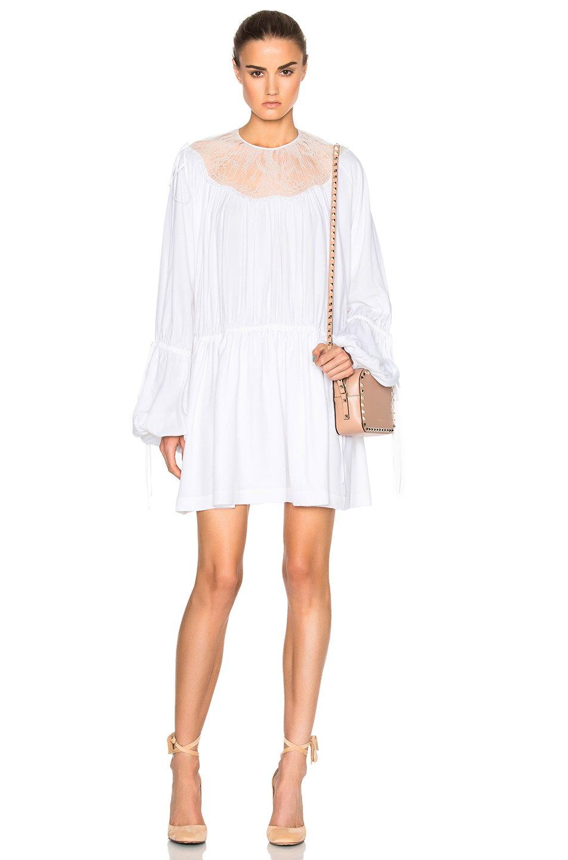 No. 21 Mini Dress in White