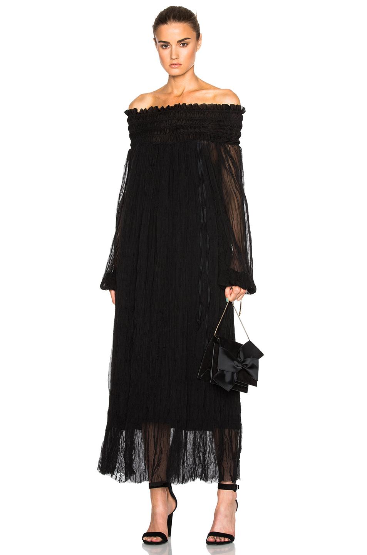 No. 21 Off The Shoulder Dress in Black