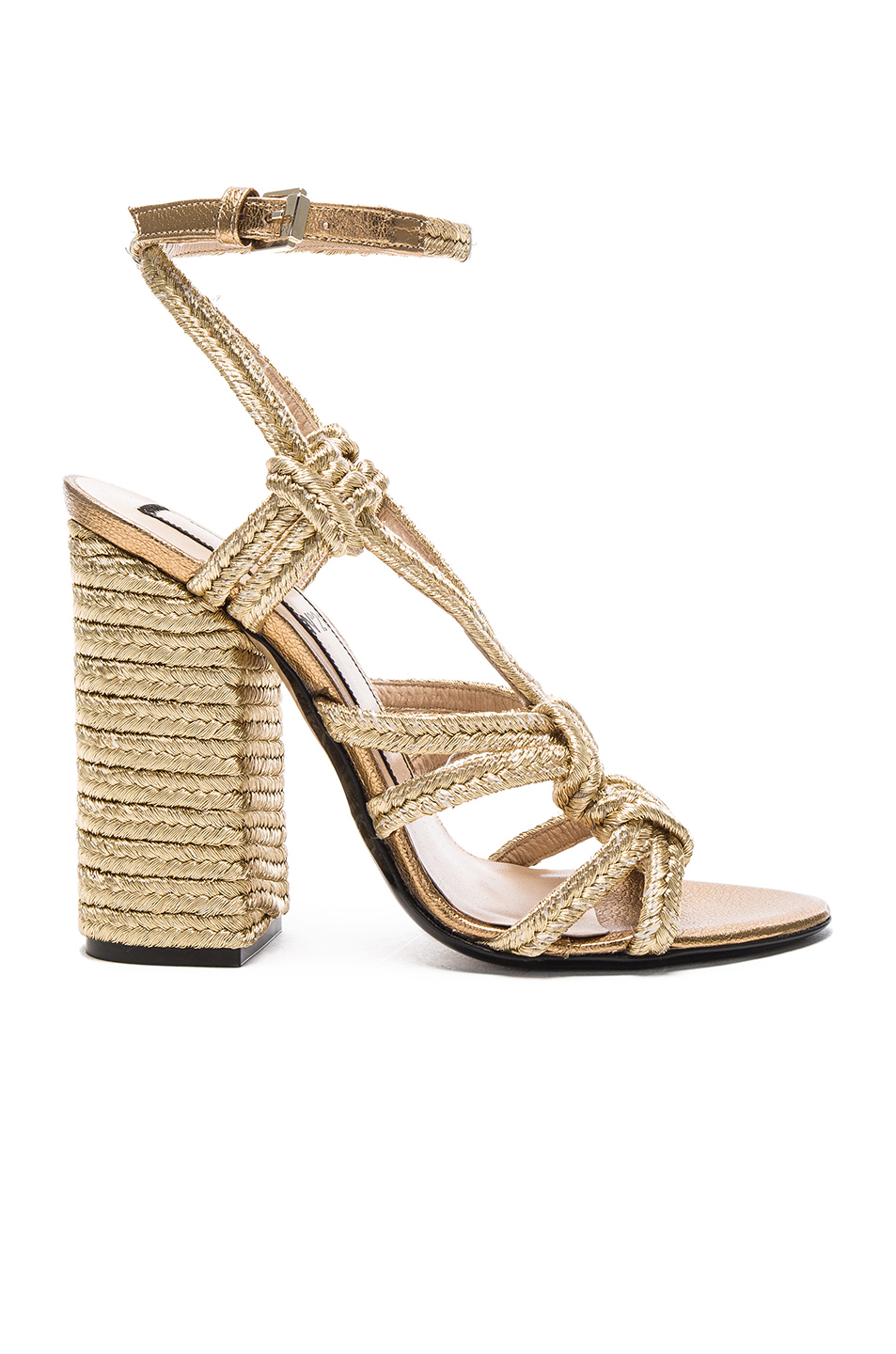 No. 21 Espadrille Heel in Metallics