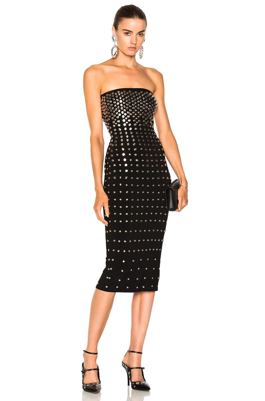 Norma Kamali Studded Dress in Black