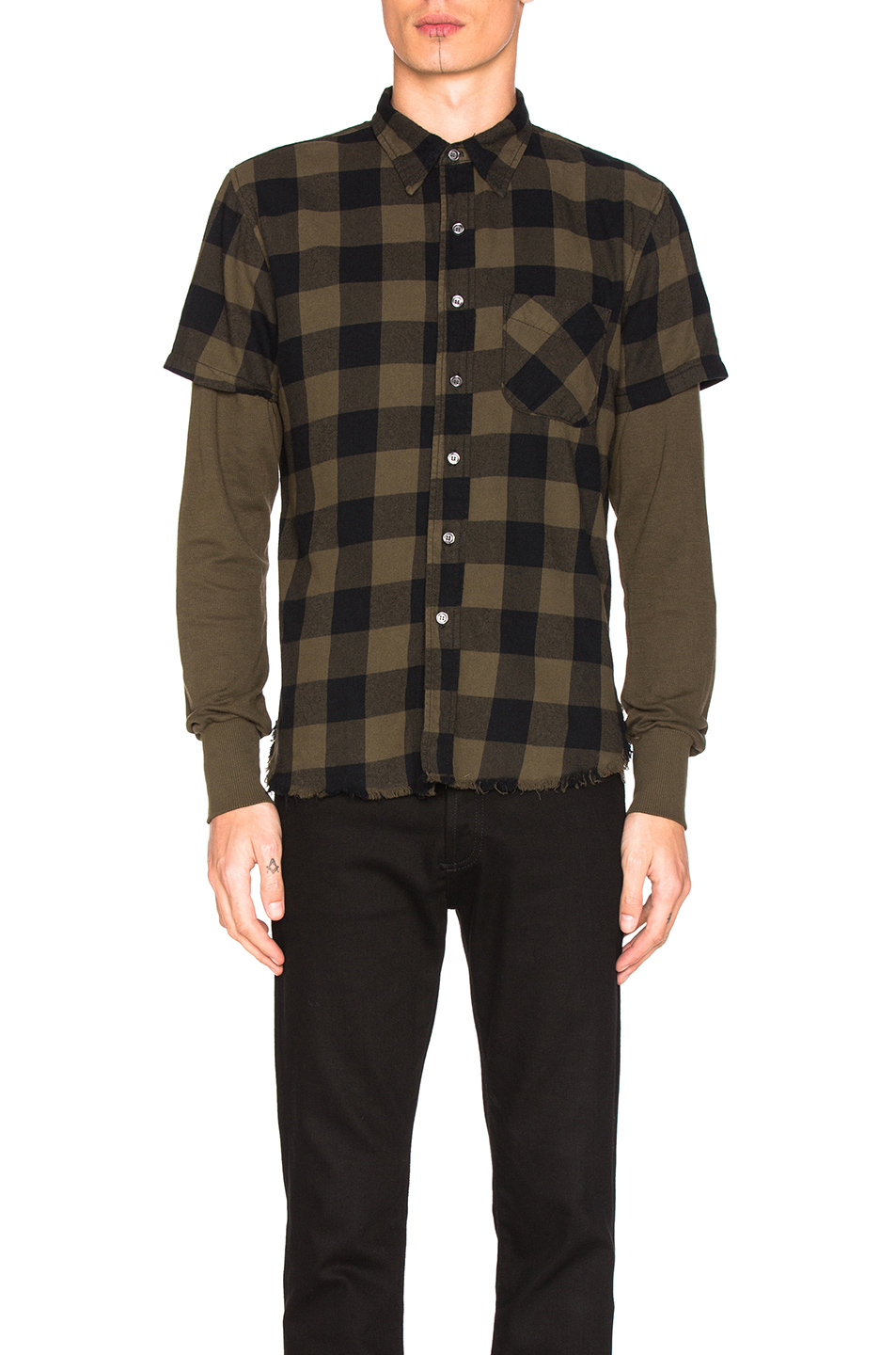NSF Levi Shirt in Green,Checkered & Plaid