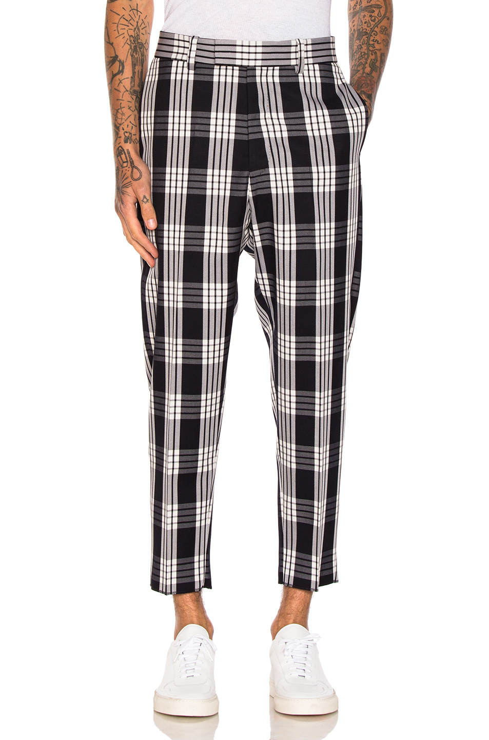 OAMC Tailored Plaid Pants in Blue,Checkered & Plaid