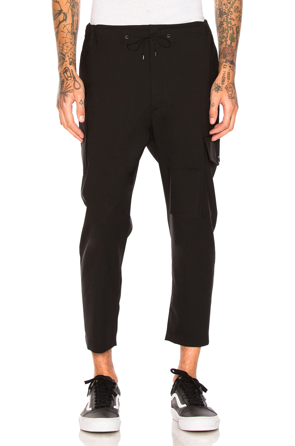 OAMC Cropped Utility Pants in Black