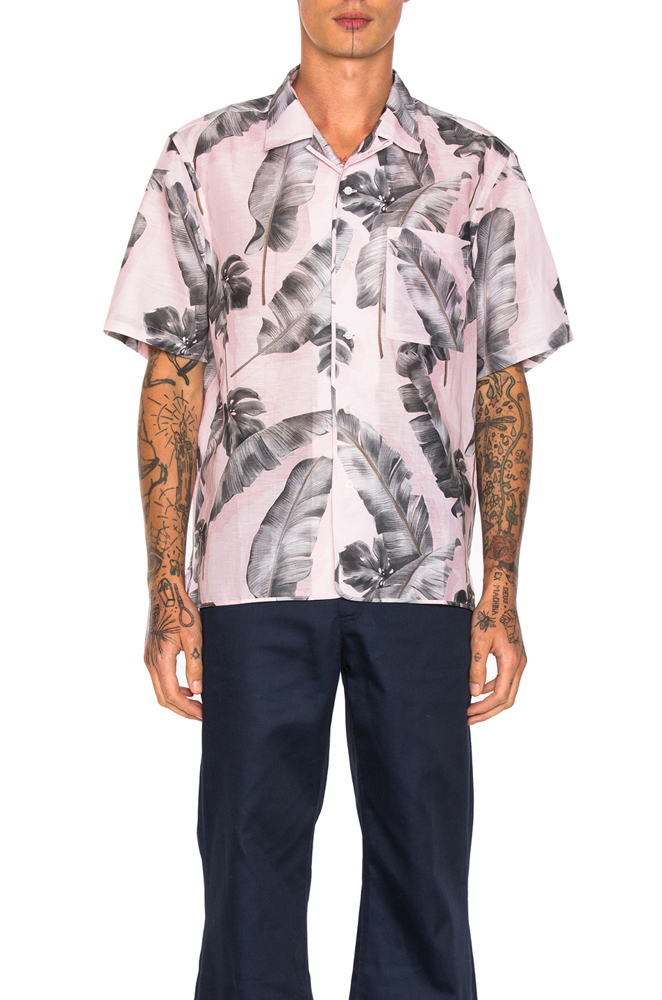 OAMC Tropic Shirt in Pink,Floral