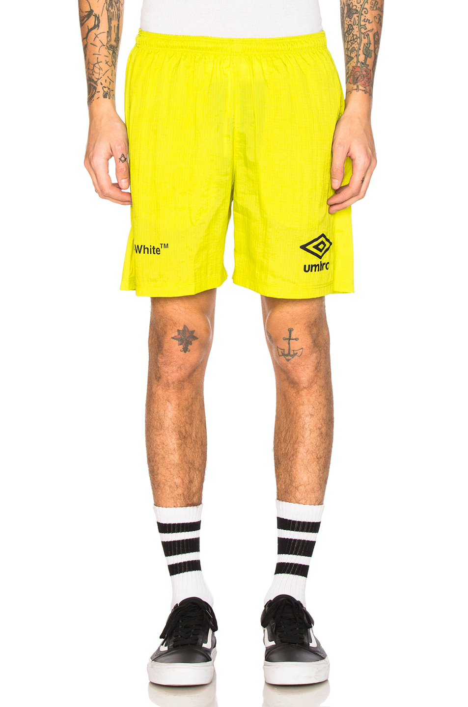 OFF-WHITE x Umbro Ripstop Shorts in Green,Neon