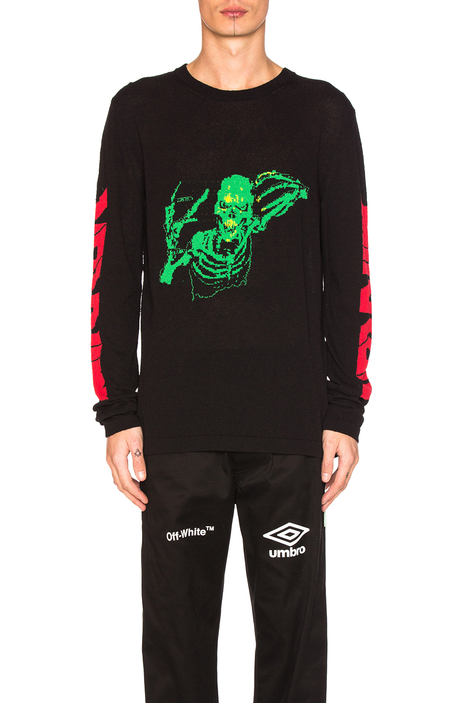 OFF-WHITE Skull Rock Sweater in Black