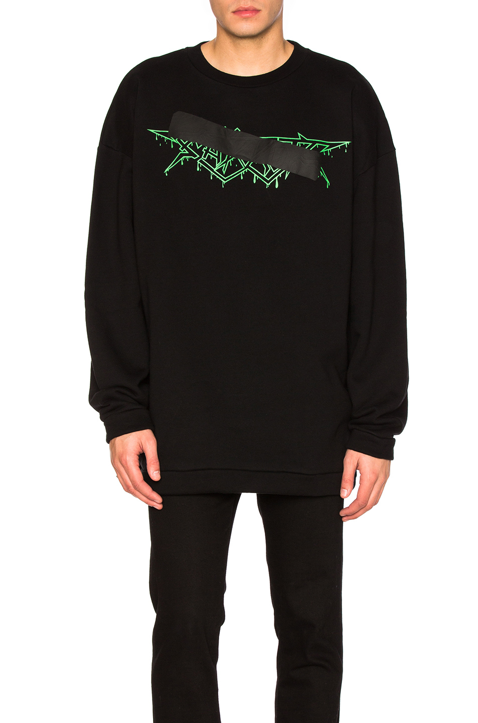 OFF-WHITE Rock Mirror Crewneck in Black