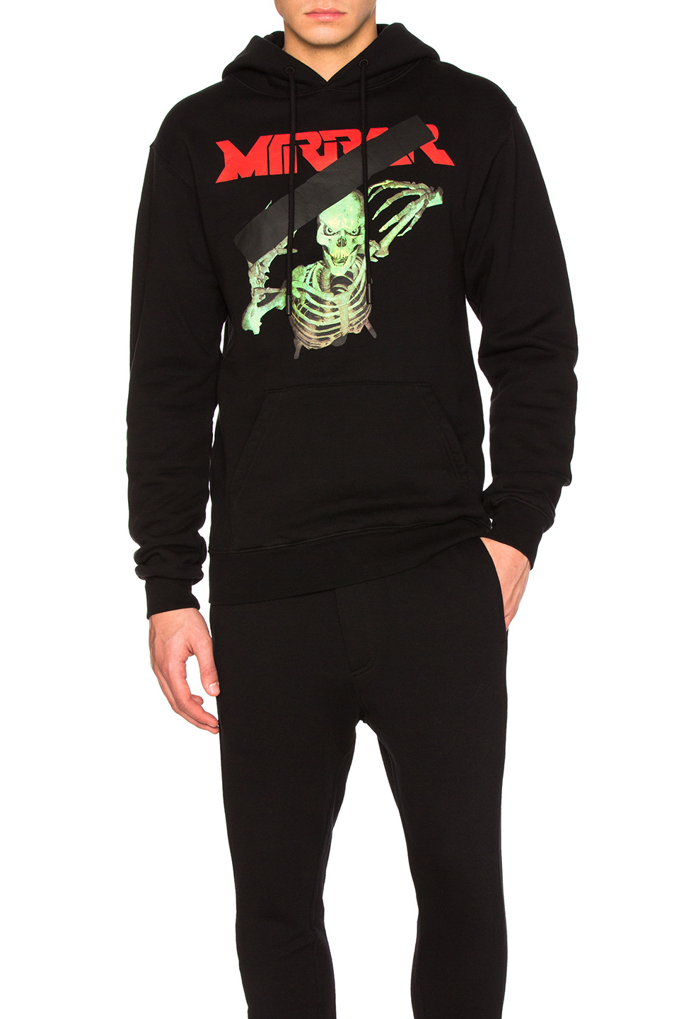 OFF-WHITE Mirror Skull Hoody in Black