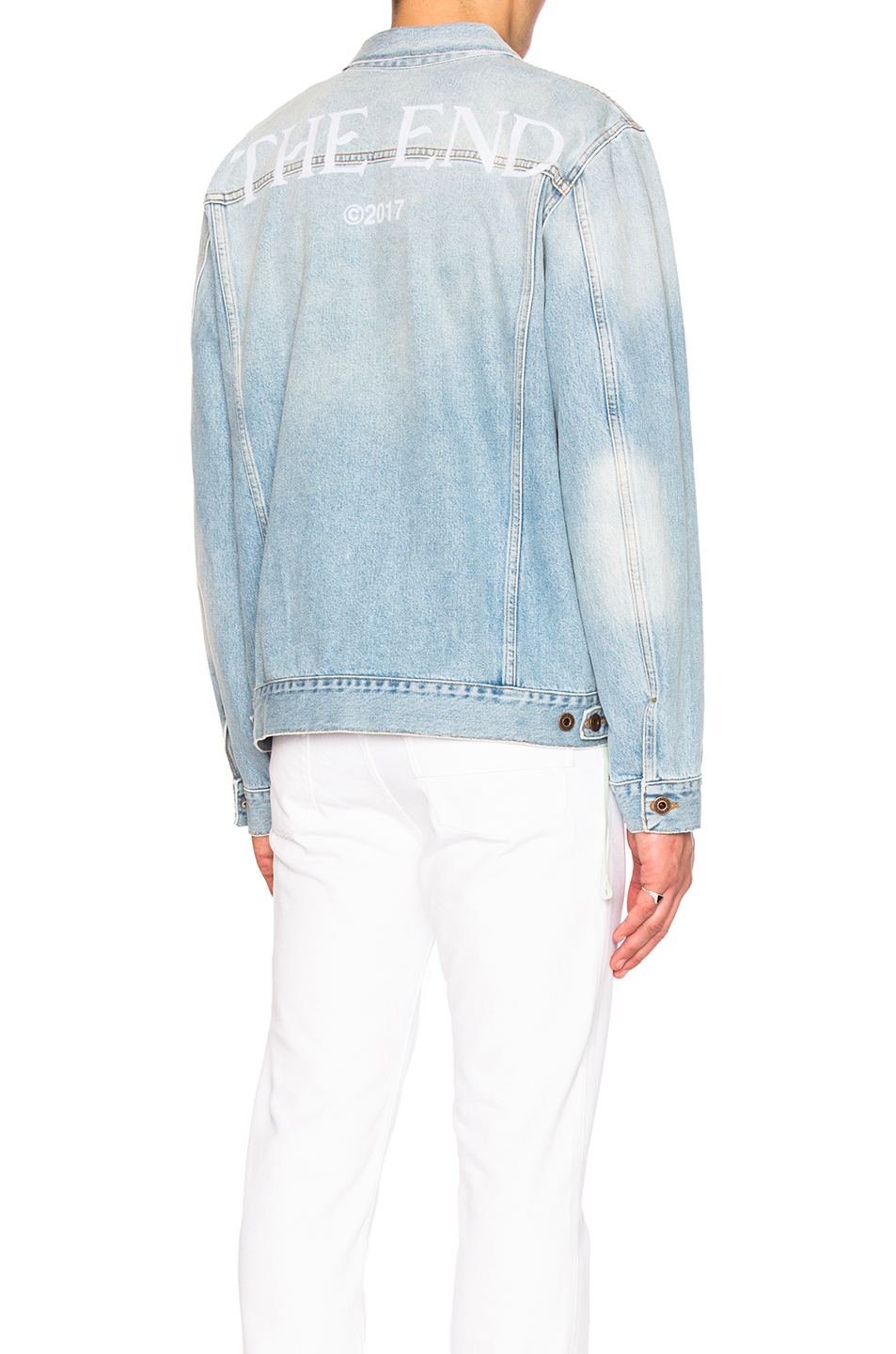 OFF-WHITE Scorpion Denim Jacket in Blue