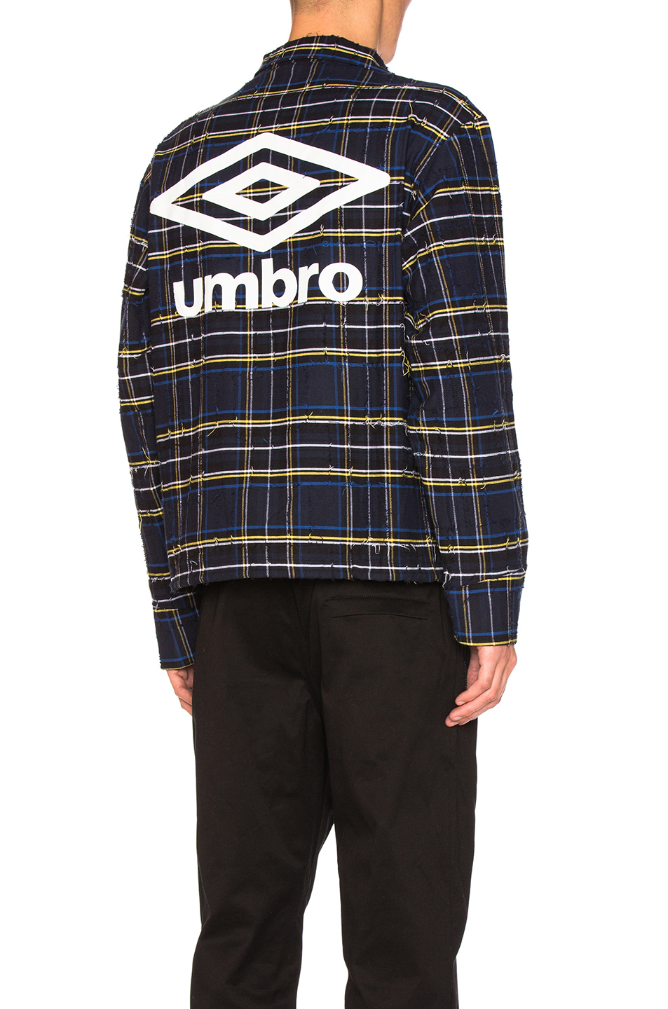 OFF-WHITE x Umbro Jacket in Blue,Checkered & Plaid