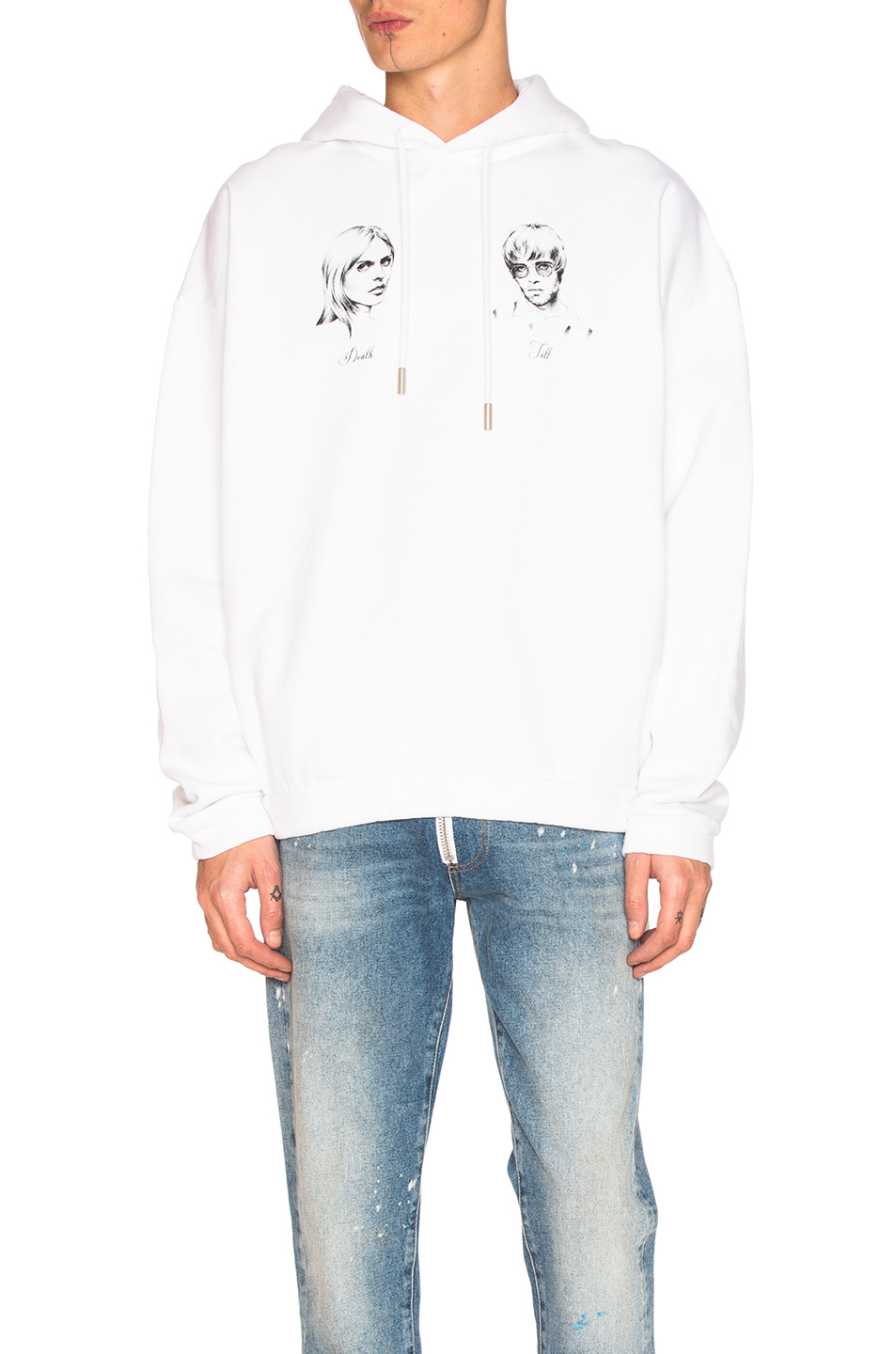 OFF-WHITE Till Death Hoody in White