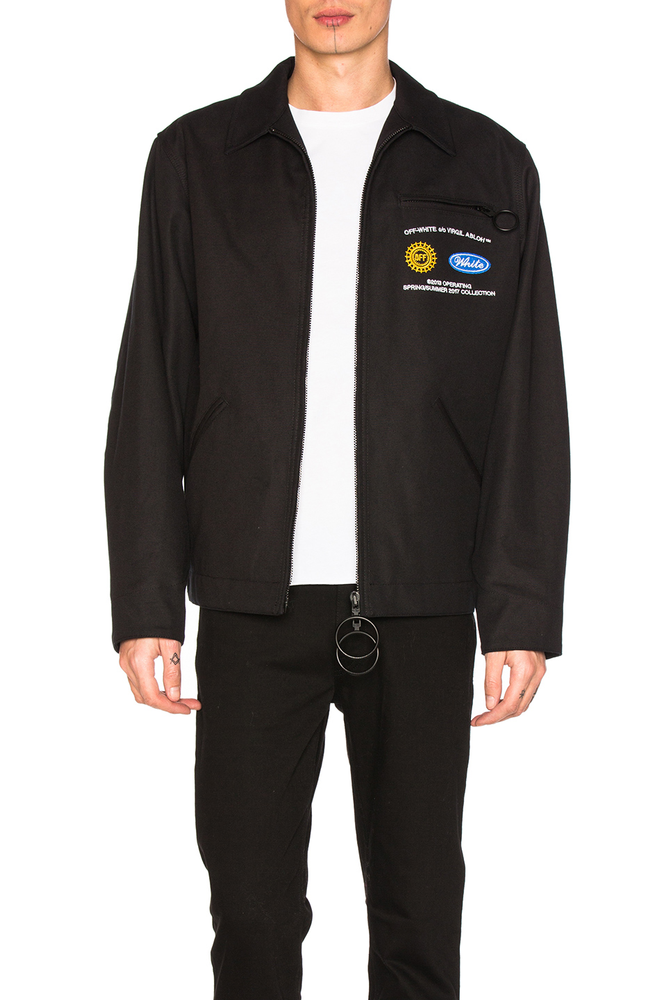 OFF-WHITE Work Jacket in Black