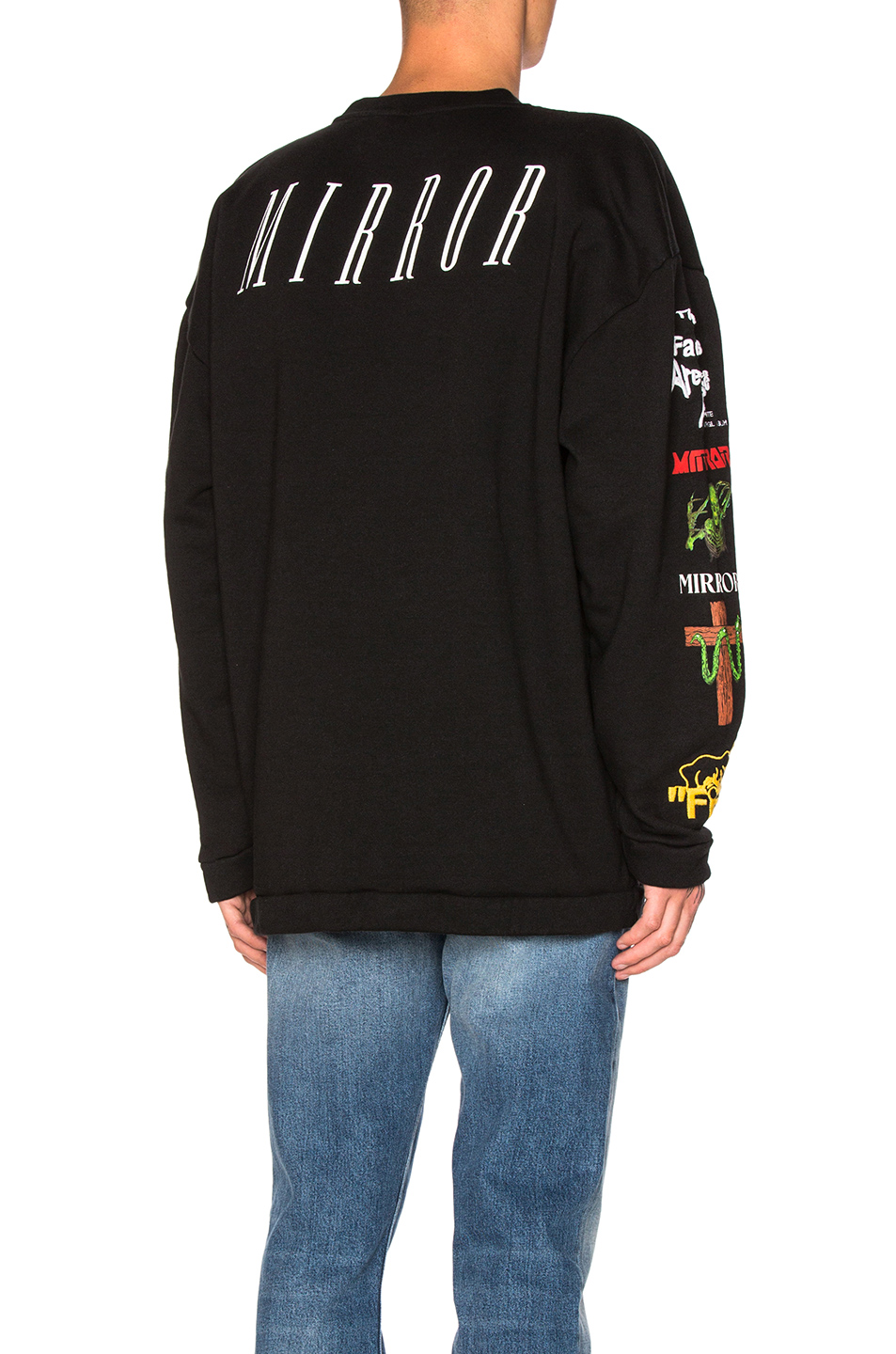 OFF-WHITE Mix Rock Crewneck in Black