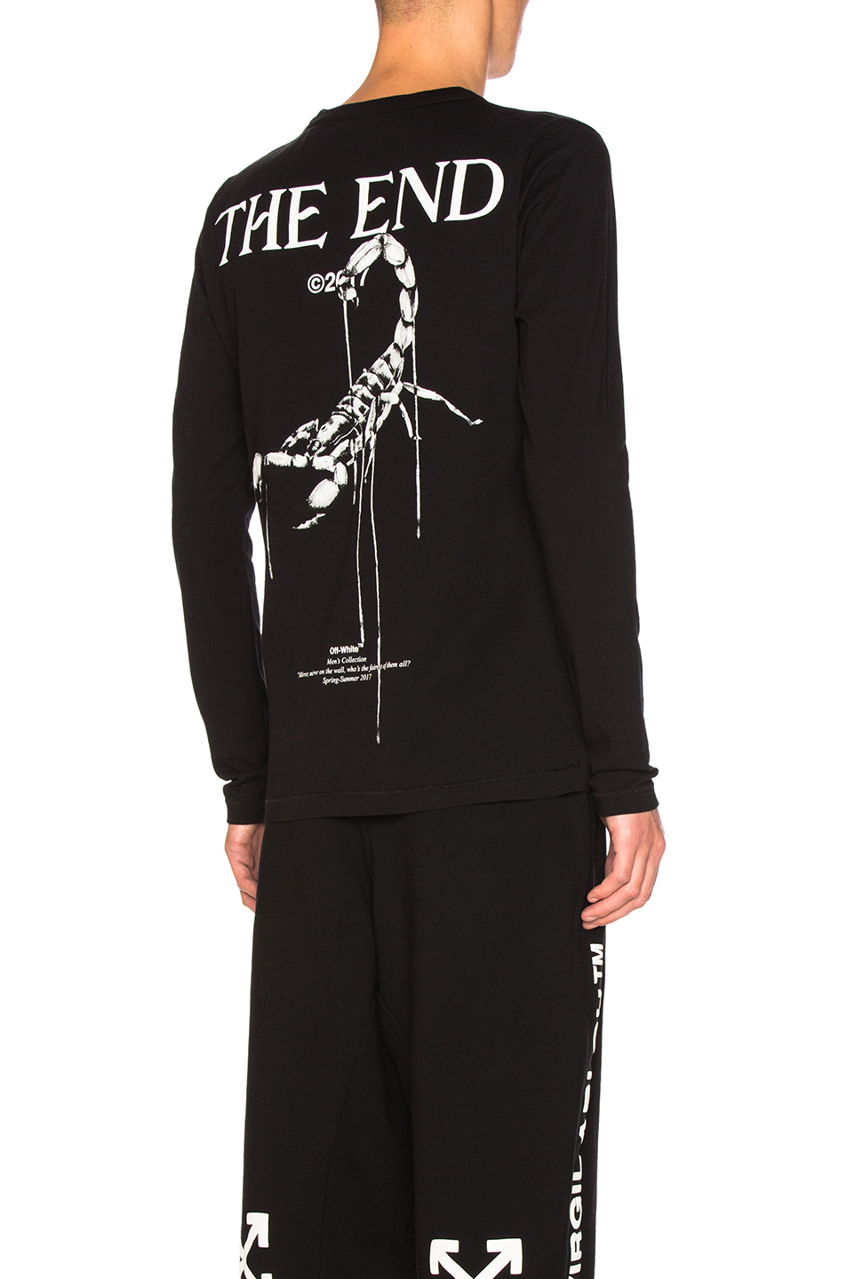 OFF-WHITE Othelo's Scorpion Long Sleeve Tee in Black