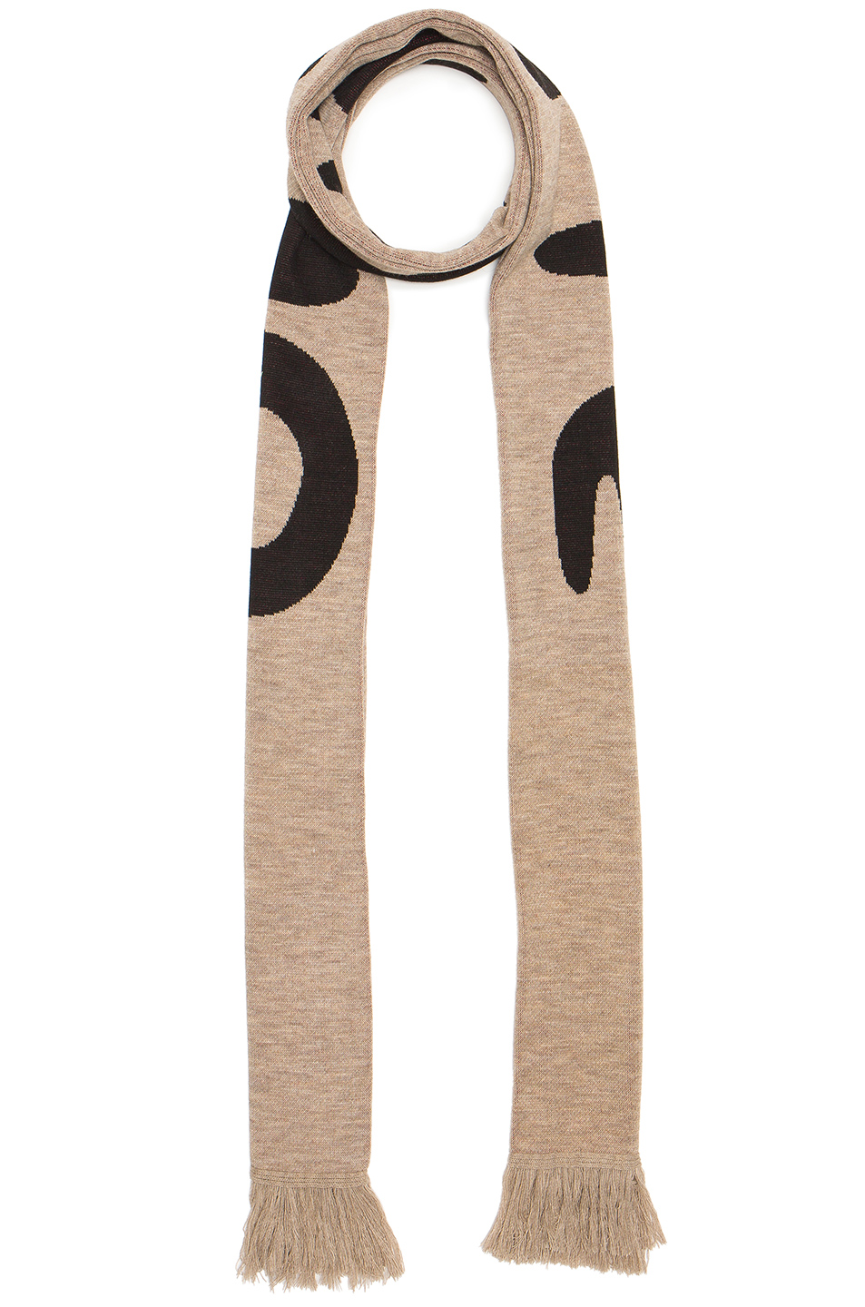 OFF-WHITE Mirror Mirror Big Scarf in Brown,Abstract