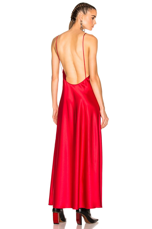 OFF-WHITE Slip Dress in Red