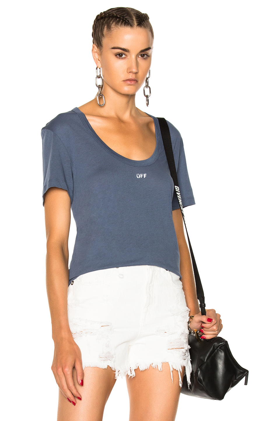 OFF-WHITE for FWRD Basic Scoop Tee in Blue