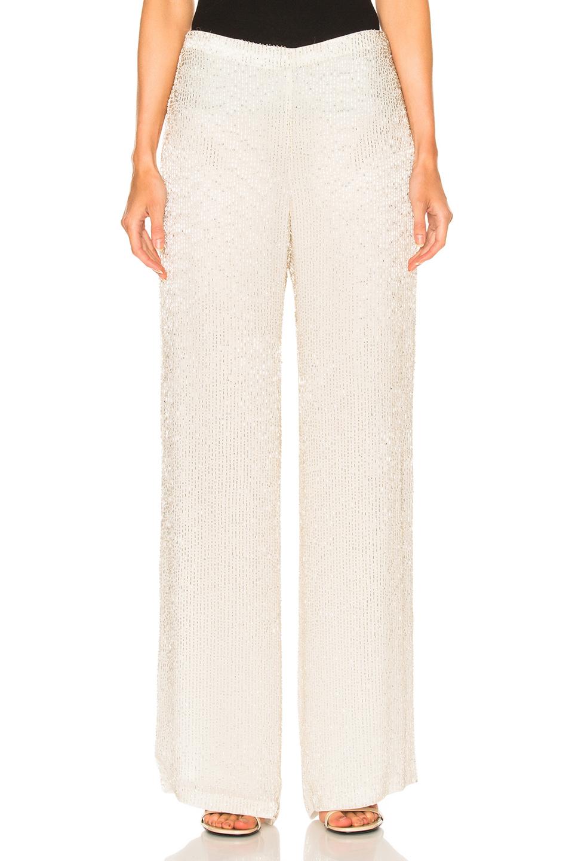 Oscar de la Renta Embellished Pant in White