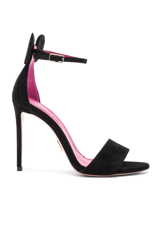 Oscar Tiye Suede Minnie Sandals in Black