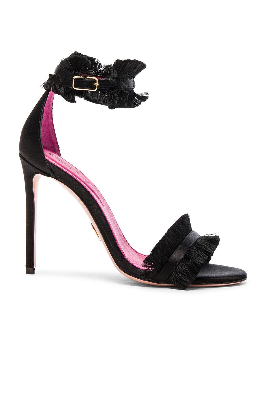 Oscar Tiye Satin Caroline Sandals in Black