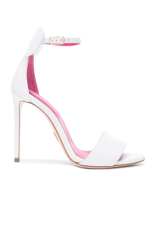 Oscar Tiye Leather Minnie Sandals in White