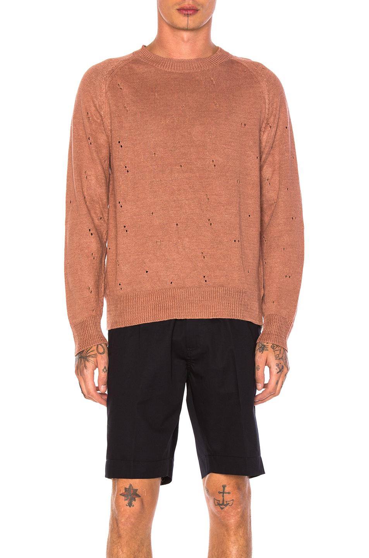 Our Legacy Raglan Round Neck Sweater in Neutrals