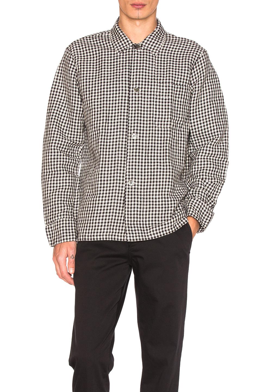 Our Legacy Box Shirt in Black,Checkered & Plaid,White