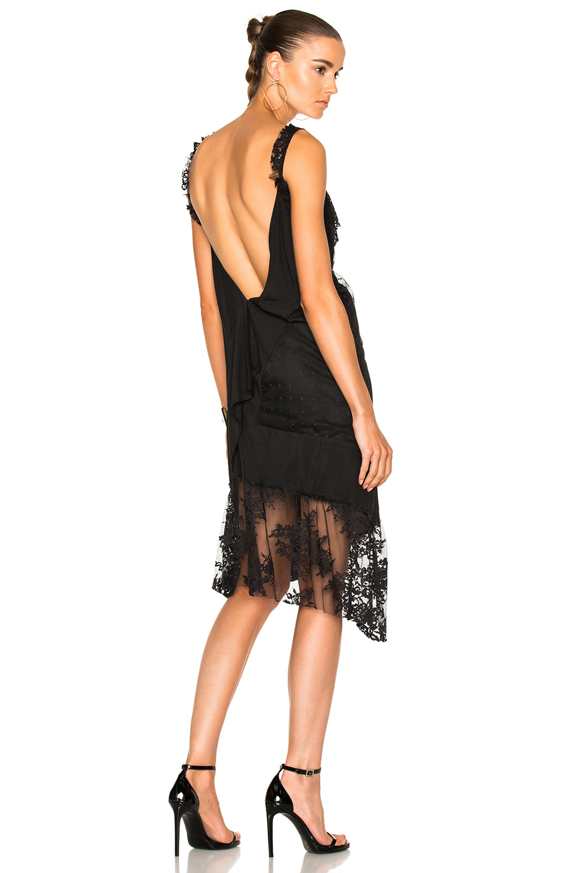 Pierre Balmain Asymmetrical Slip Dress in Black