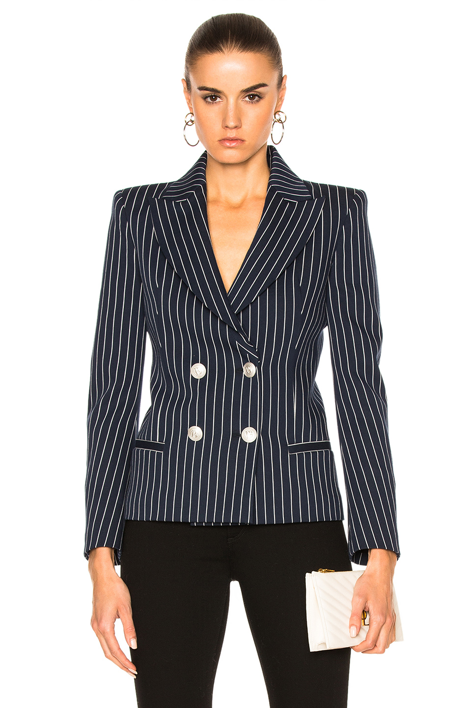 Pierre Balmain Pinstripe Blazer in Stripes