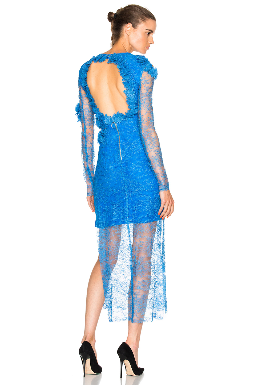 Preen by Thornton Bregazzi Pelli Dress in Blue