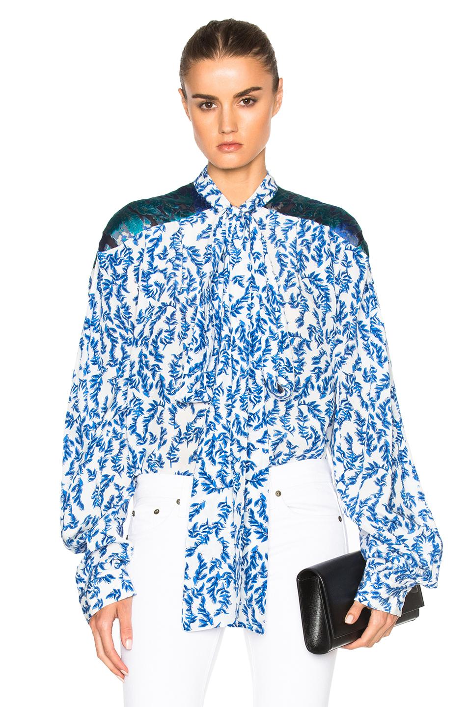 Preen by Thornton Bregazzi Corina Top in Blue,Floral