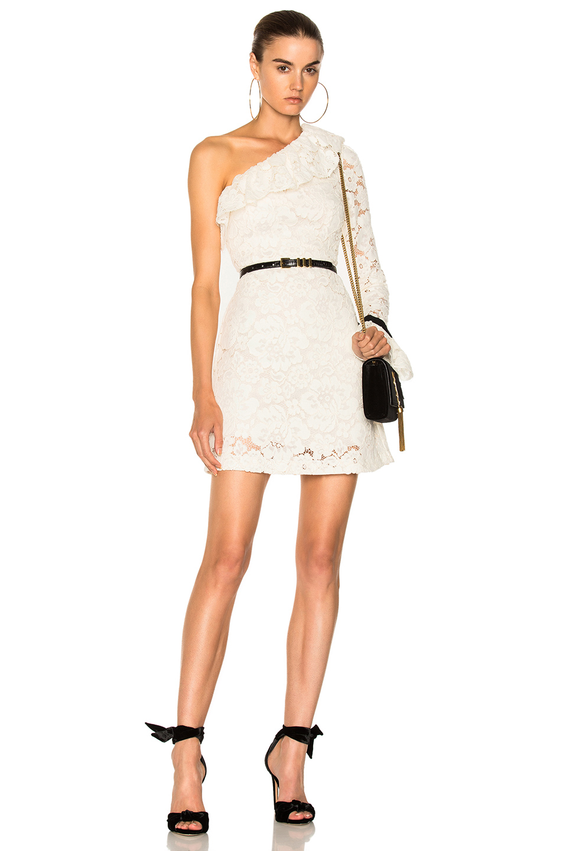Philosophy di Lorenzo Serafini One Shoulder Lace Dress in White
