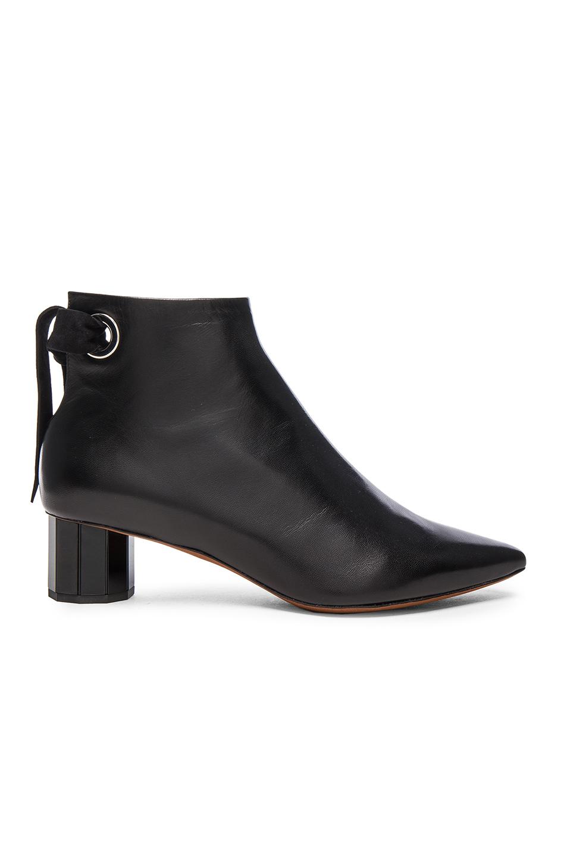 Proenza Schouler Leather Tie Boots in Black